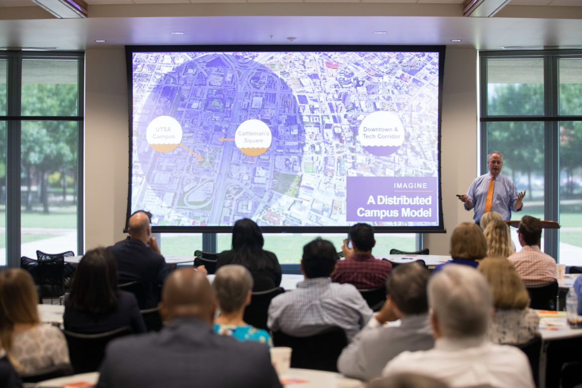 UTSA President Taylor Eighmy describes a distributed campus model for the near Westside of downtown.