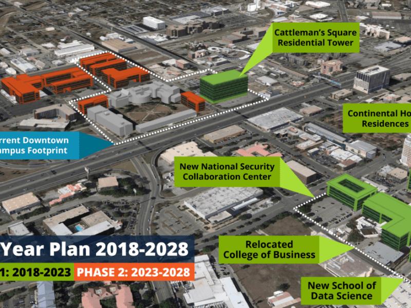 The UTSA Downtown Campus's 10 year plan.