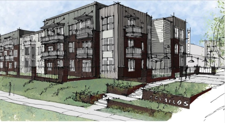 An illustration of the planned apartments at 419 W. Cevallos Street.
