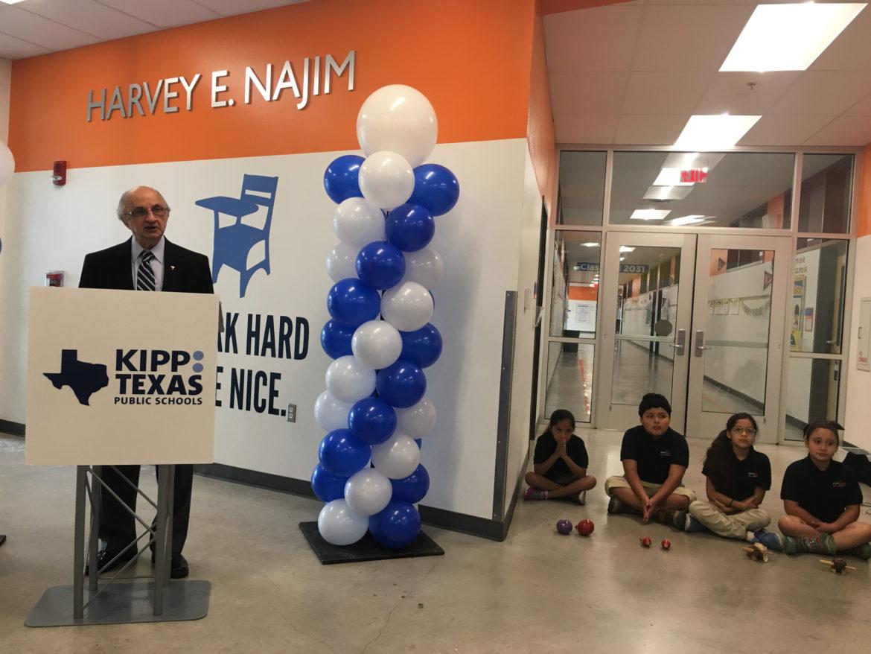 Harvey Najim gives a $1 million donation to KIPP Texas.