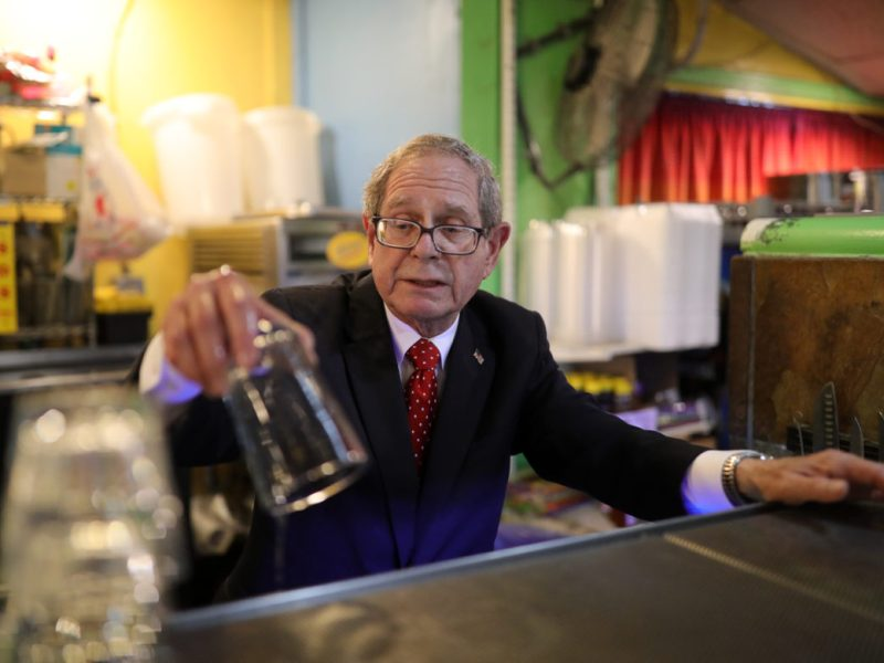 You can most likely find Bob Buchanan every Friday night behind the bar cleaning glasses as they come back from service.