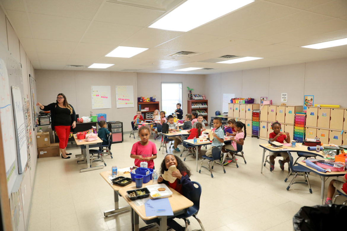 A classroom pairs lunch with learning at the School of Science and Technology.