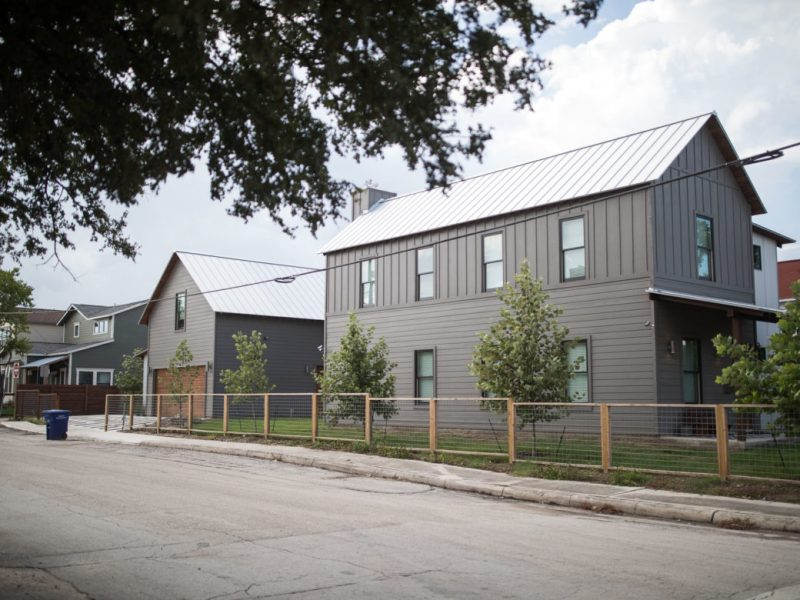 A new residential development in Dignowity Hill.