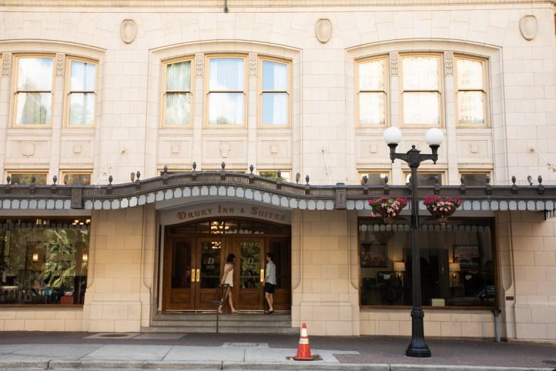 Drury Inn & Suites on North St. Mary's Street.