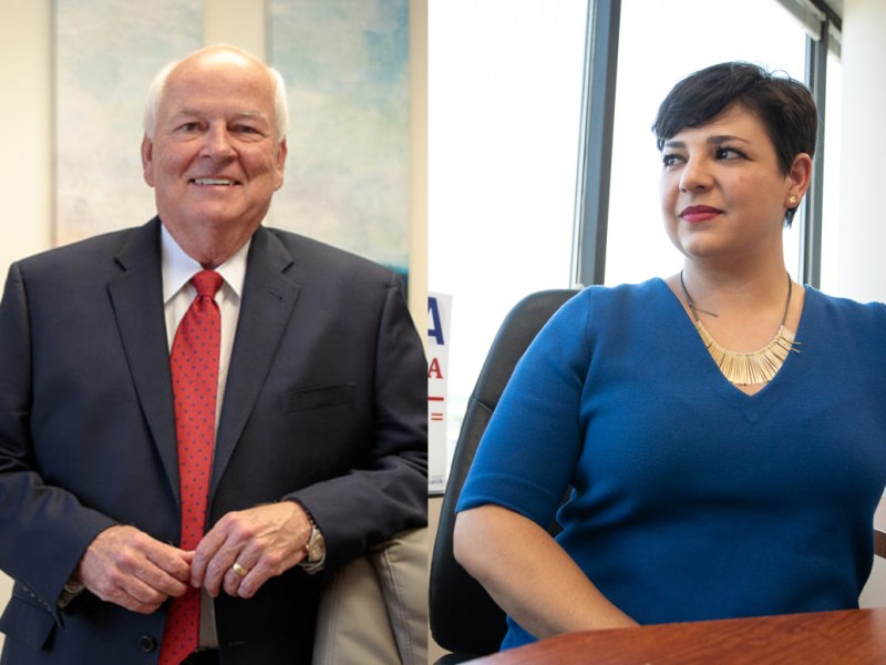 (From left)Republican Steve Allison and Democrat Celina Montoya are vying to win the open District 121 seat held by state Rep. Joe Straus (R-San Antonio), who is retiring.