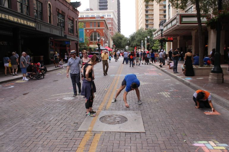 Artpace's annual community festival and fundraiser Chalk It Up turns downtown streets into art spaces.