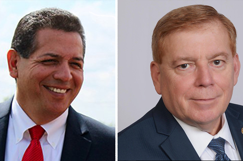 (left) John Lujan and opponent Leo Pacheco are vying for Texas House of Representatives District 118.