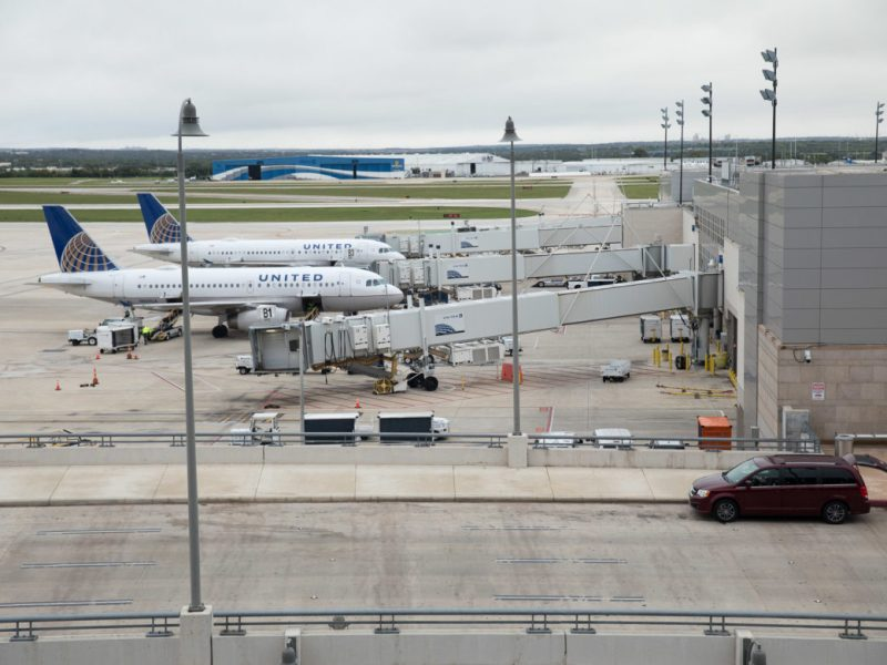 United Planes at the San Antonio International Airport