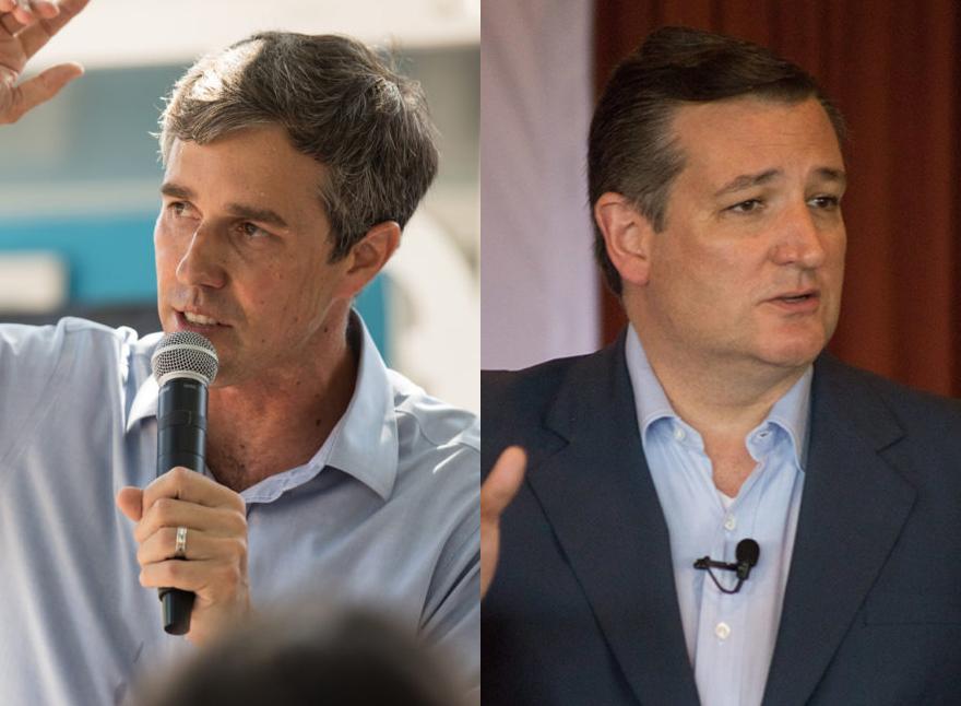 (From left) Democratic nominee for U.S. Senate Beto O'Rourke and Republican nominee for U.S. Senate Ted Cruz.