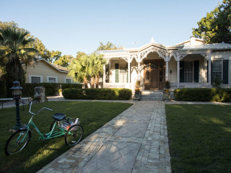 This home in the historic King William district is listed on Airbnb.