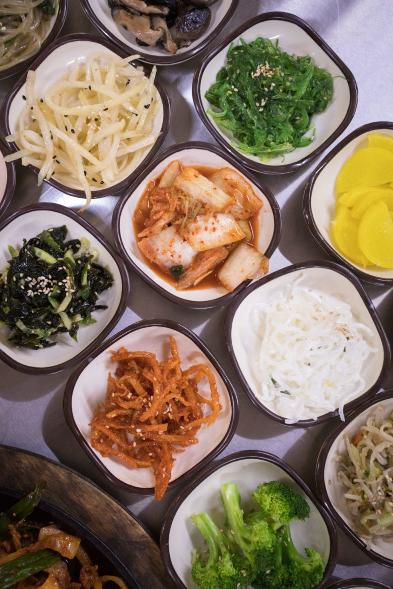 """""""Panchan,"""" or side dishes."""