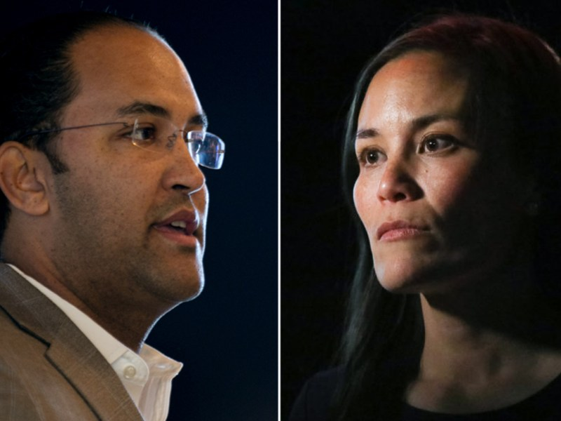 (from left) Incumbent Will Hurd (R-TX) and Gina Ortiz Jones look to secure United States House seat 23 which spans from San Antonio into West Texas along the border.