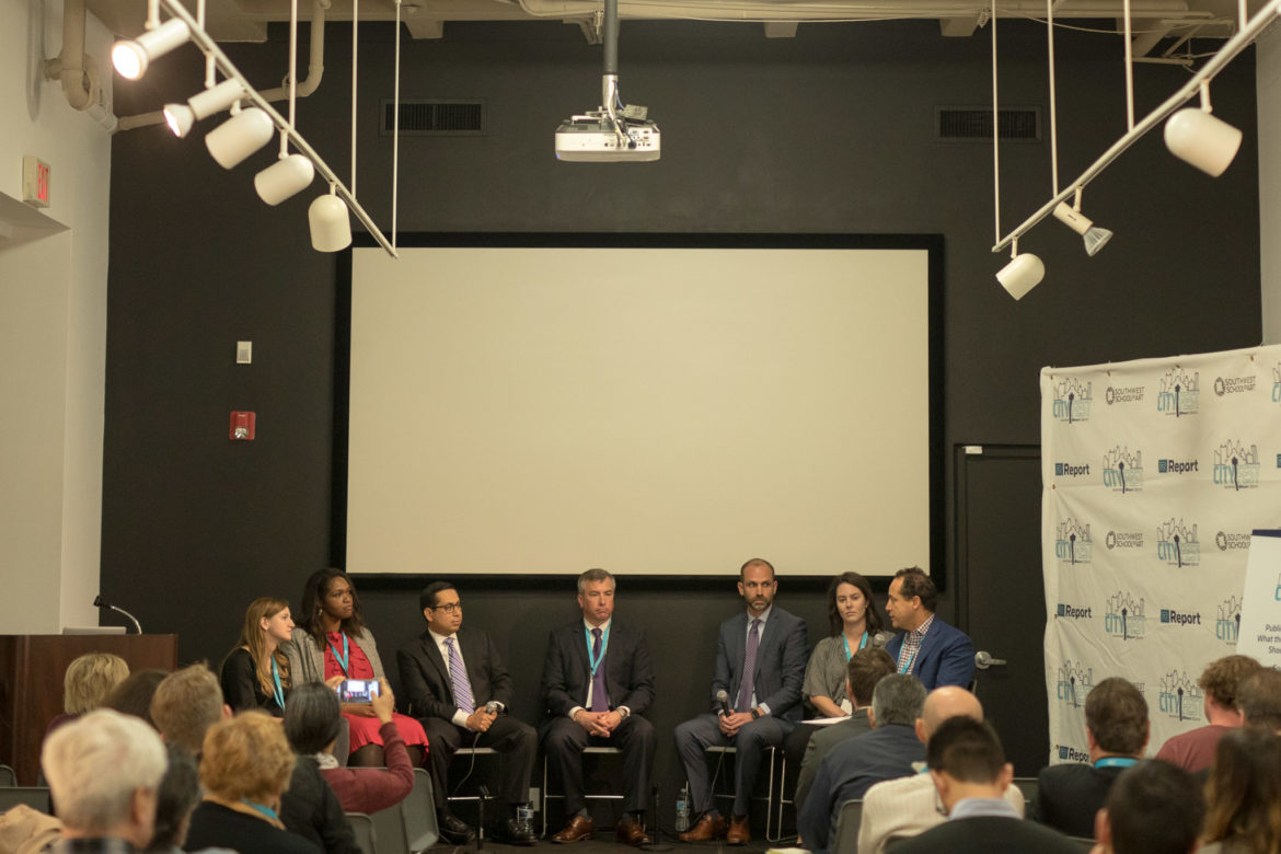 A panel on the future of public school finance is moderated by Rivard Report Education Reporter Emily Donaldson.