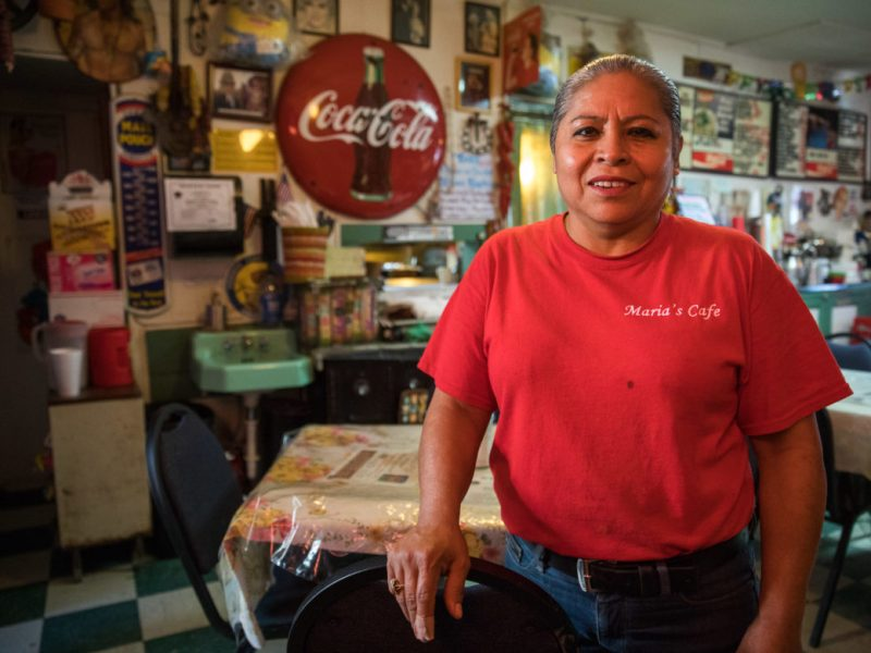 Maria Beza, owner of Maria's Cafe.