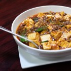 """Mapo tofu, or """"pock marked Mother Chen's tofu."""""""