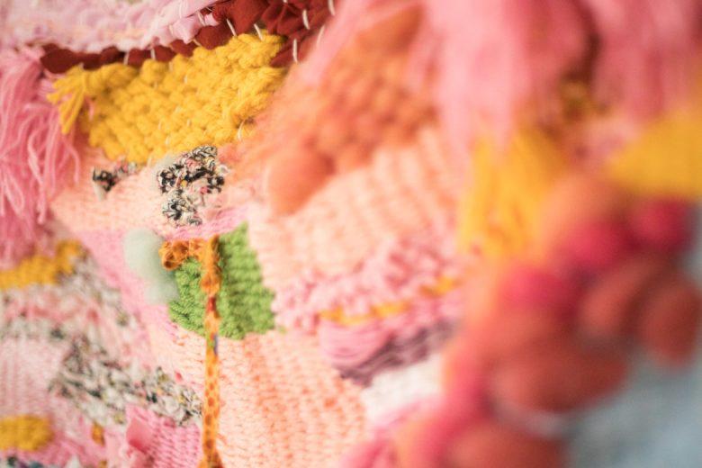 A detail of a piece by Barbara Miñarro.