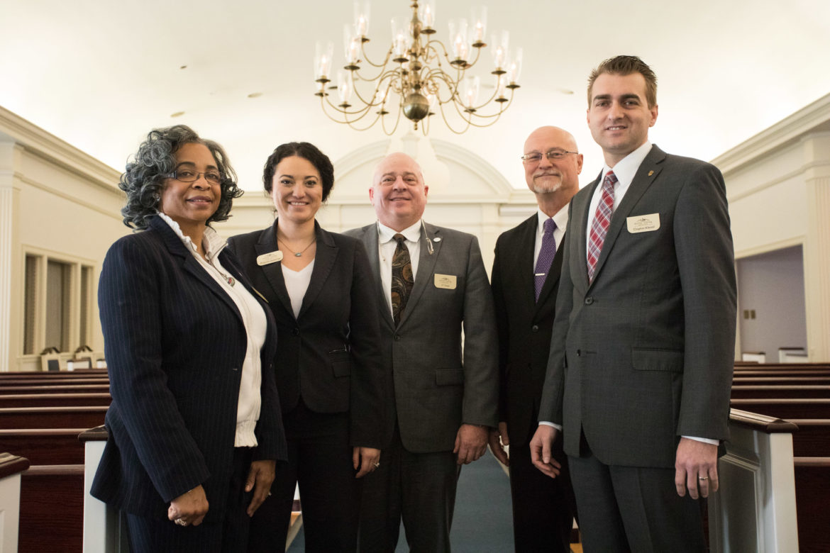 Porter Loring employees (from left) Vickie King White, Priscilla Gutierrez, JT Toner, Tim Ousley, and Clayton Klesel.