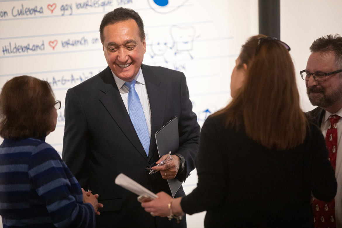 Former Mayor and ConnectSA Tri-Chair Henry Cisneros. Former Mayor and ConnectSA Tri-Chair Henry Cisneros.