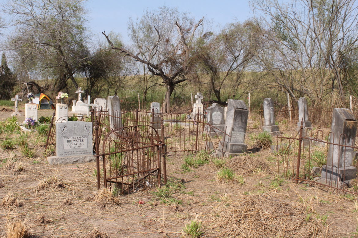 The Jackson cemetery where activists have set up a camp to organize against the border wall.