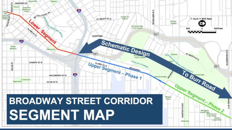 The lower and upper segments of phase 1 of the Broadway corridor project are funded through the City's 2017 bond program as well as state and federal sources.