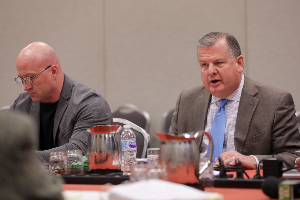(right) Chief negotiator representing the San Antonio Professional Firefighters Association Ricky Poole.