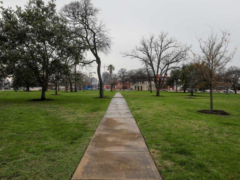 Maverick Park located along Broadway just North of downtown San Antonio.