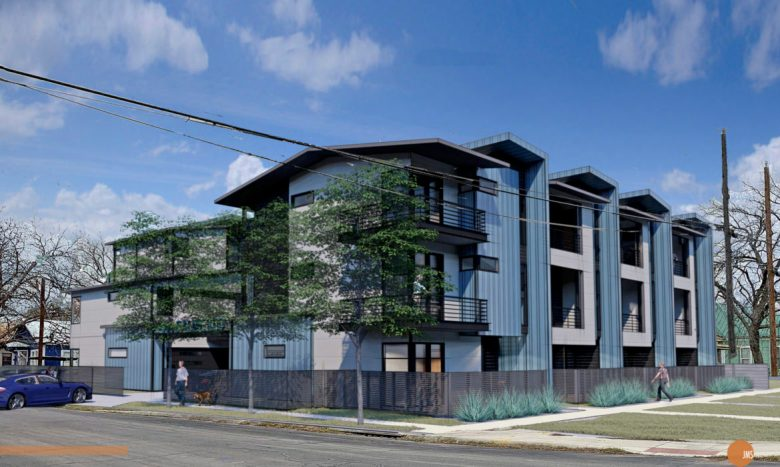 A rendering of the Palmetto Townhomes project.