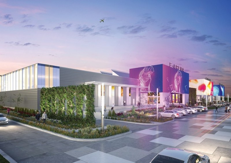 A rendering of the Port San Antonio facility that could include a competitive gaming arena.