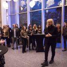 Annie Leibovitz speaks at a meet & greet before her presentation.