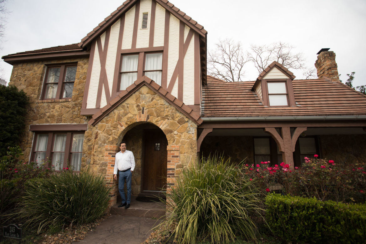Mario Vazquez stands in front of his home in Monticello Park.