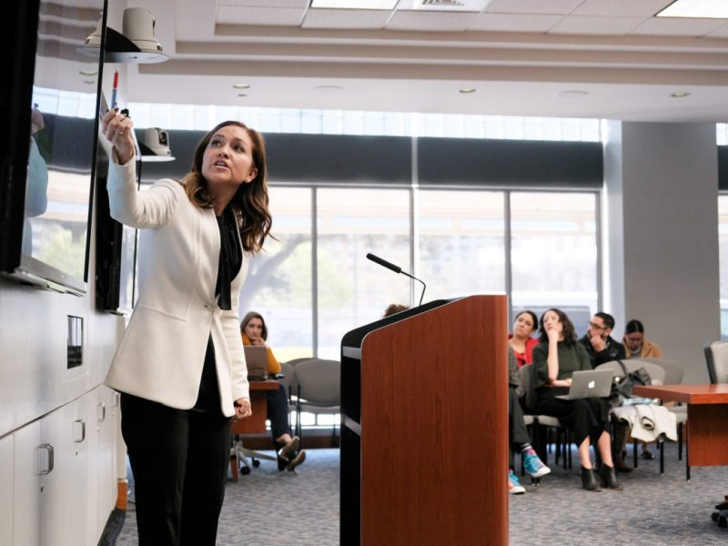 Jenna Saucedo-Herrera, president and CEO of greater:SATX, is joining forces with 11 other local business leaders to form a new initiative seeking to bridge racial divides aross key areas such as education and economic opportunity.