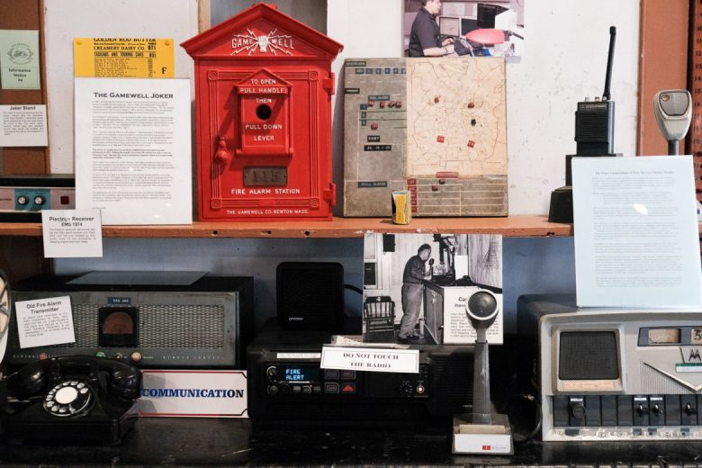 A small exhibit on communication allows visitors to learn how messaging was relayed throughout firefighting history.