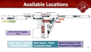 This map shows the current layout of Terminal A in the San Antonio International Airport.