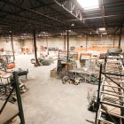 This open warehouse is available for filming sets.