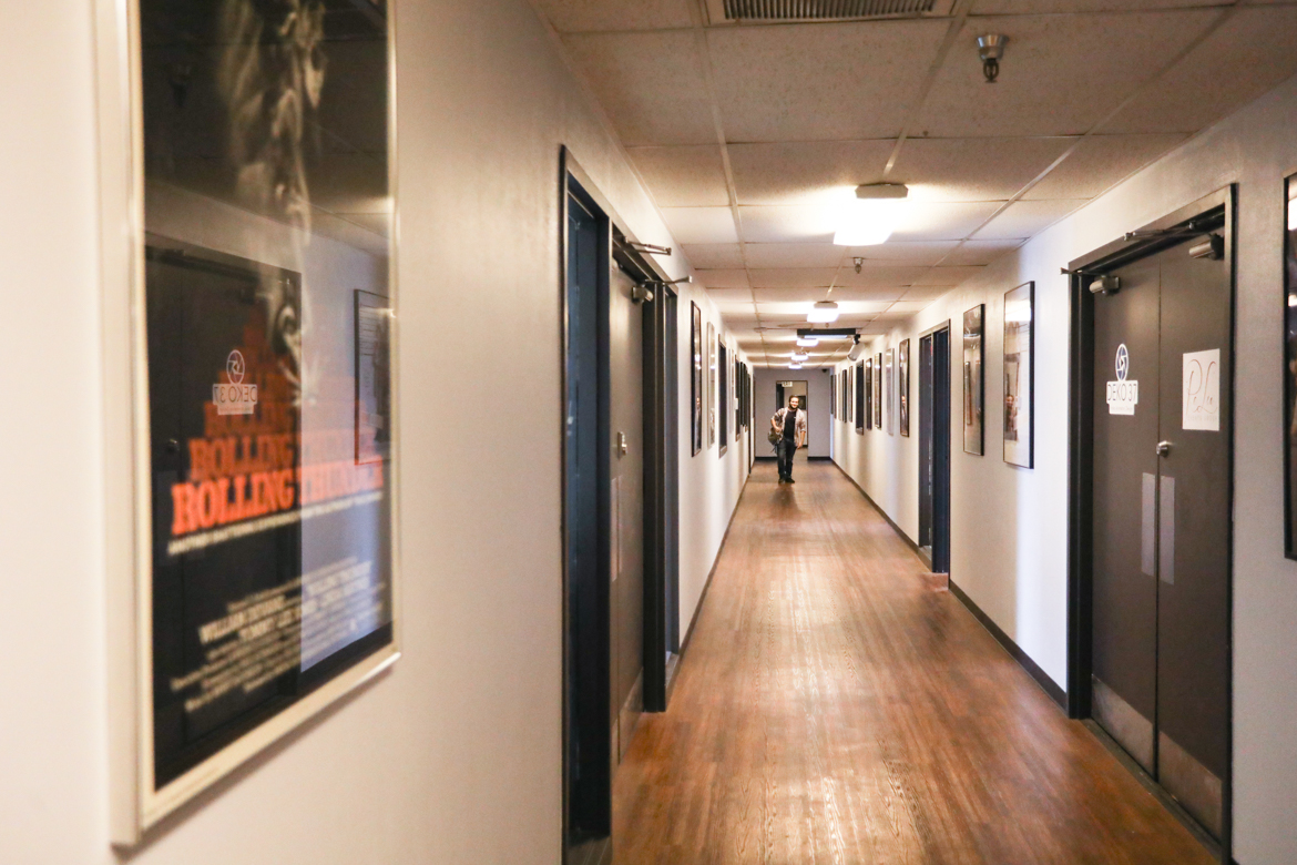 The main hallway of Alamo City Studios.