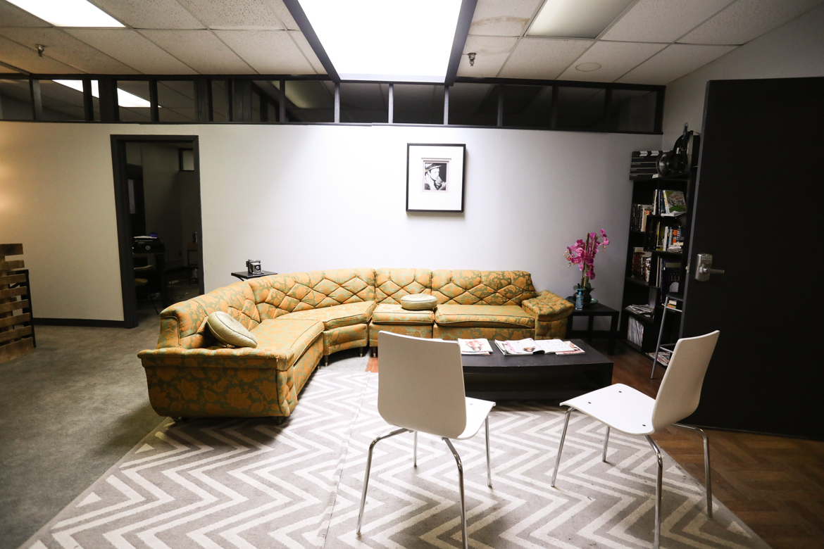 A co-working space is available at Alamo City Studioes.