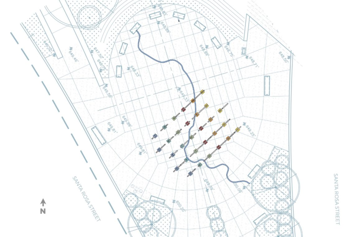 The site plan of Creek Lines.