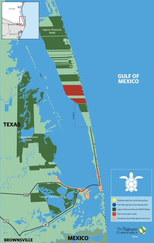 A map of the preserve land recently purchased by The Nature Conservancy.