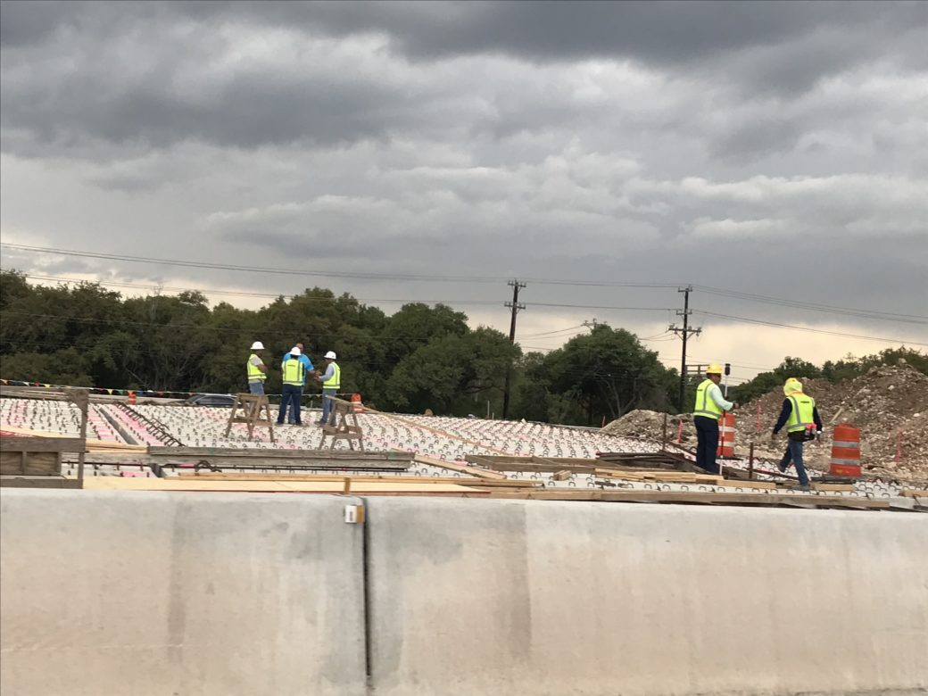 Construction work is progressing on U.S. Highway 281 from Loop 1604 stretching north, eventually to the Comal county line.