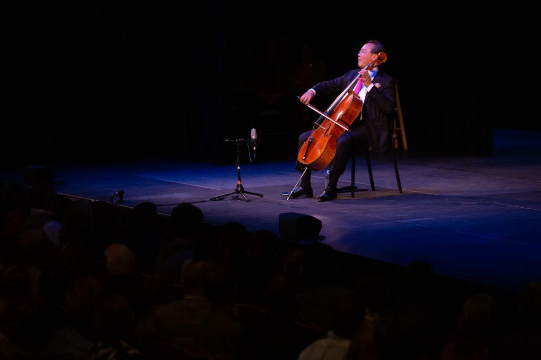 Yo-Yo Ma performs at Trinity University.
