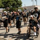 The Highlands High School Mighty Owls Band.