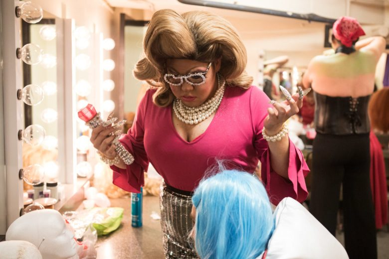 Cornyation participants put the final touches on their makeup and costumes before the show.