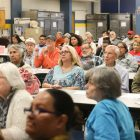 District 3 residents attend the Mayoral debate after the District 3 meeting.