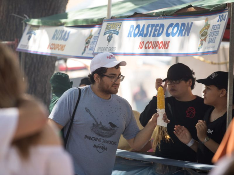 Roasted Corn is sold to Oyster Bake attendees.