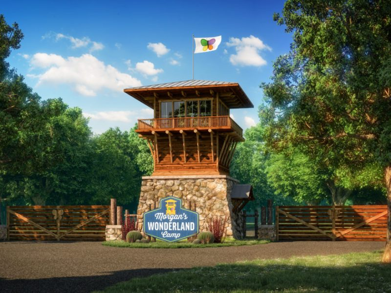 A rendering featuring an entry gate at Morgan's Wonderland Camp.