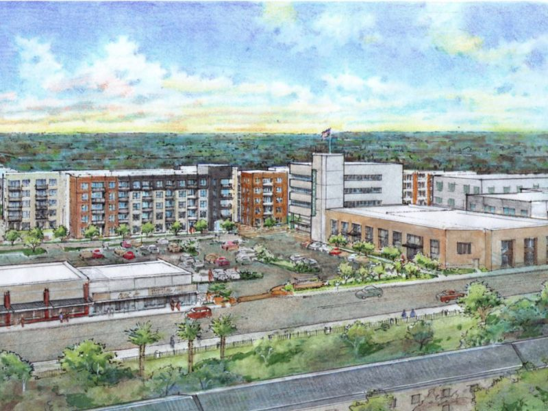 The proposed development will feature 320 multi-family units in the historic Government Hill neighborhood bordering Joint Base - Fort Sam.