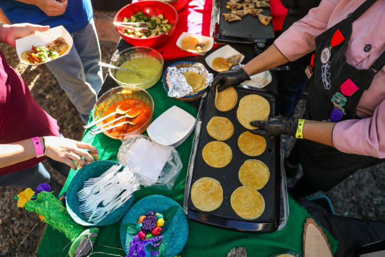 Taco Palenque offers up miniature tacos to attendees during the Taste of the Republic.