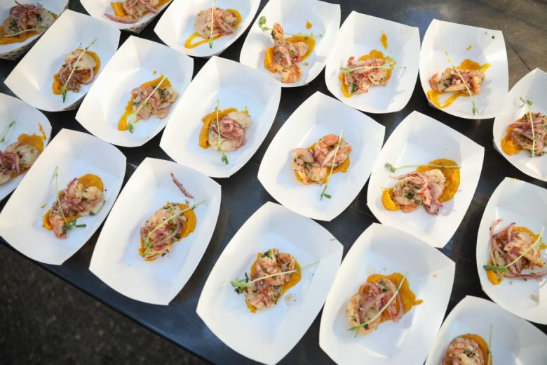 Gulf shrimp ceviche from Chef Geronimo Lopez of Botika.