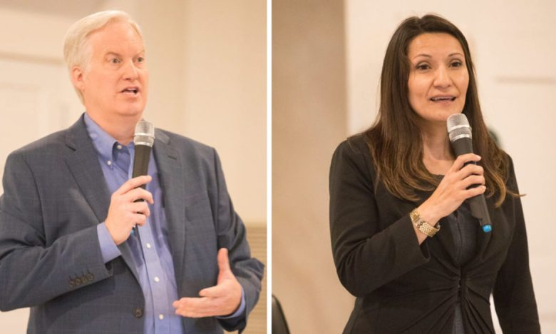 (left) Andy Greene and Melissa Cabello Havrda are running to fill the empty seat of District 6 just one term after Greg Brockhouse was elected as he runs for Mayor.