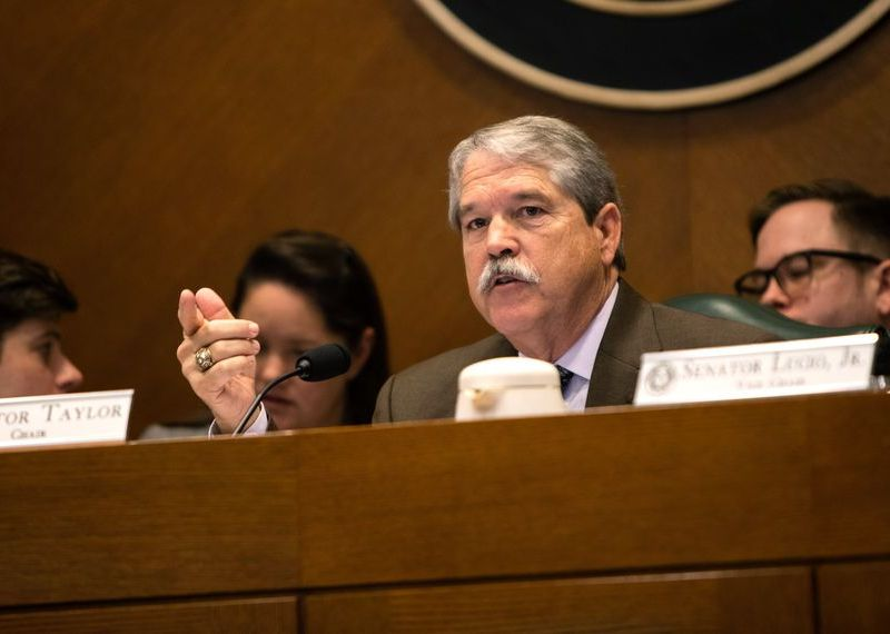 Texas Senate Education Committee Chariman Larry Taylor (R-Friendswood), during a committee meeting on Mar. 5, 2019.